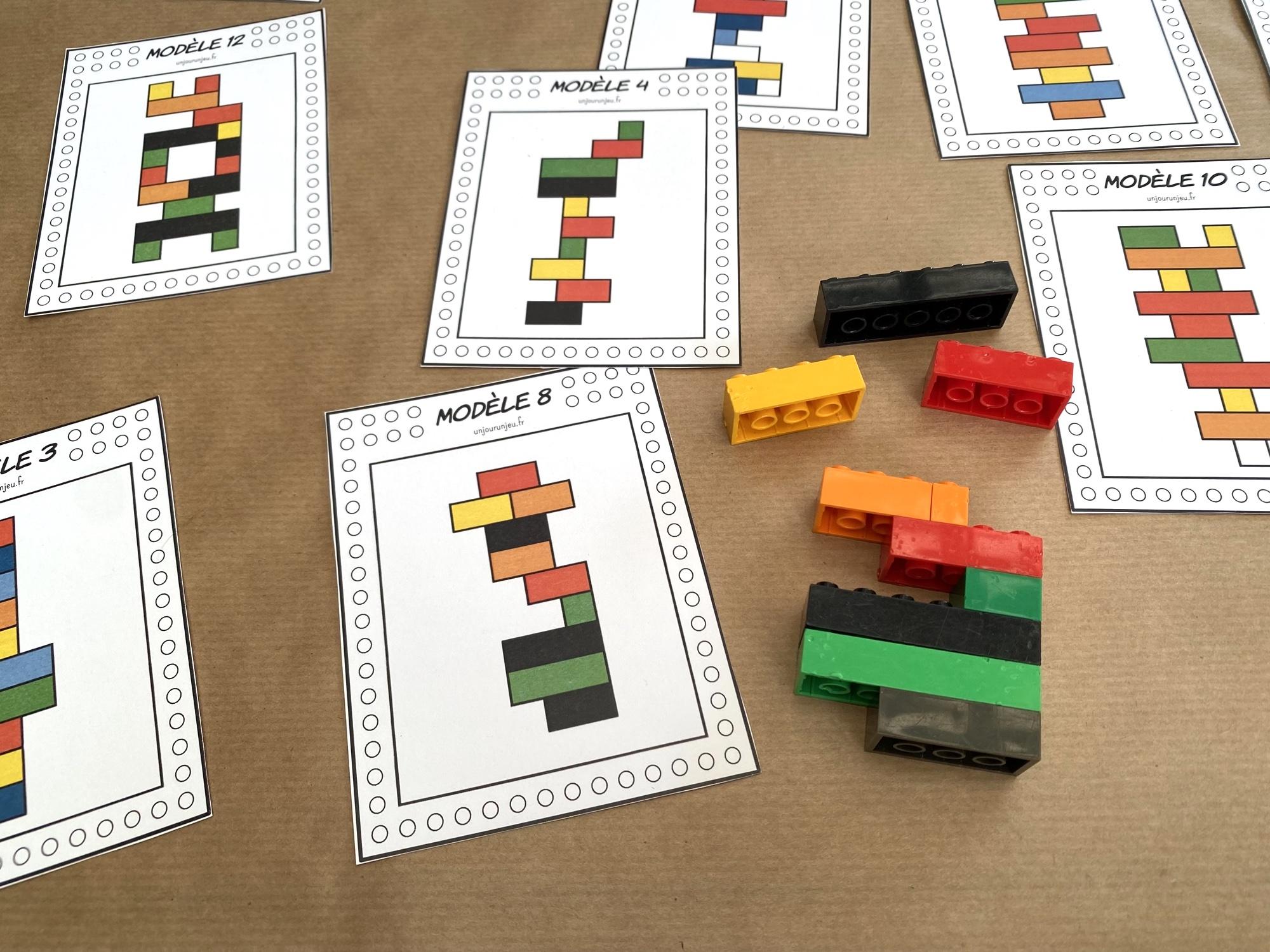 Fiches LEGO à reproduire - étape 4