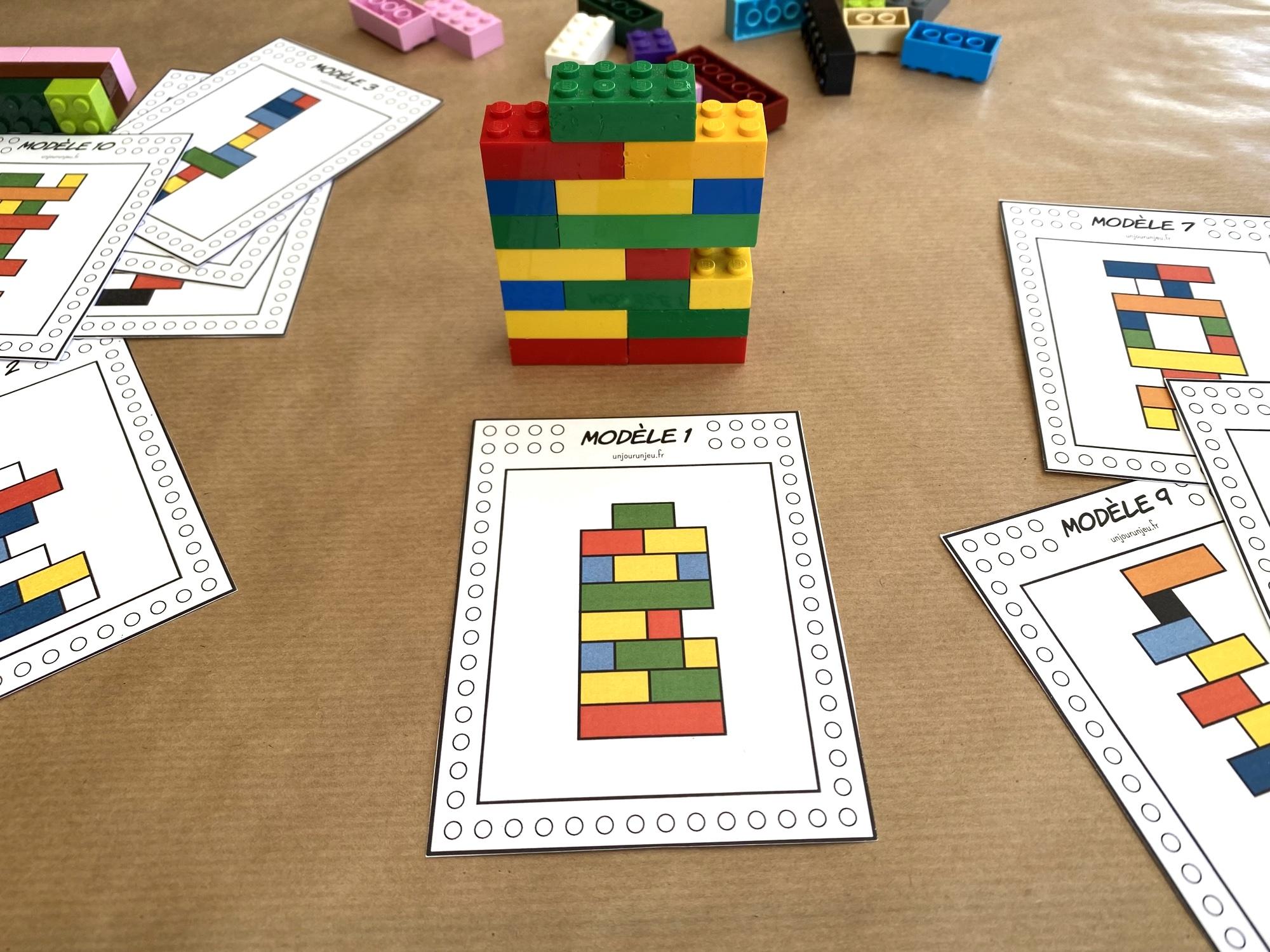 Fiches LEGO à reproduire - étape 5