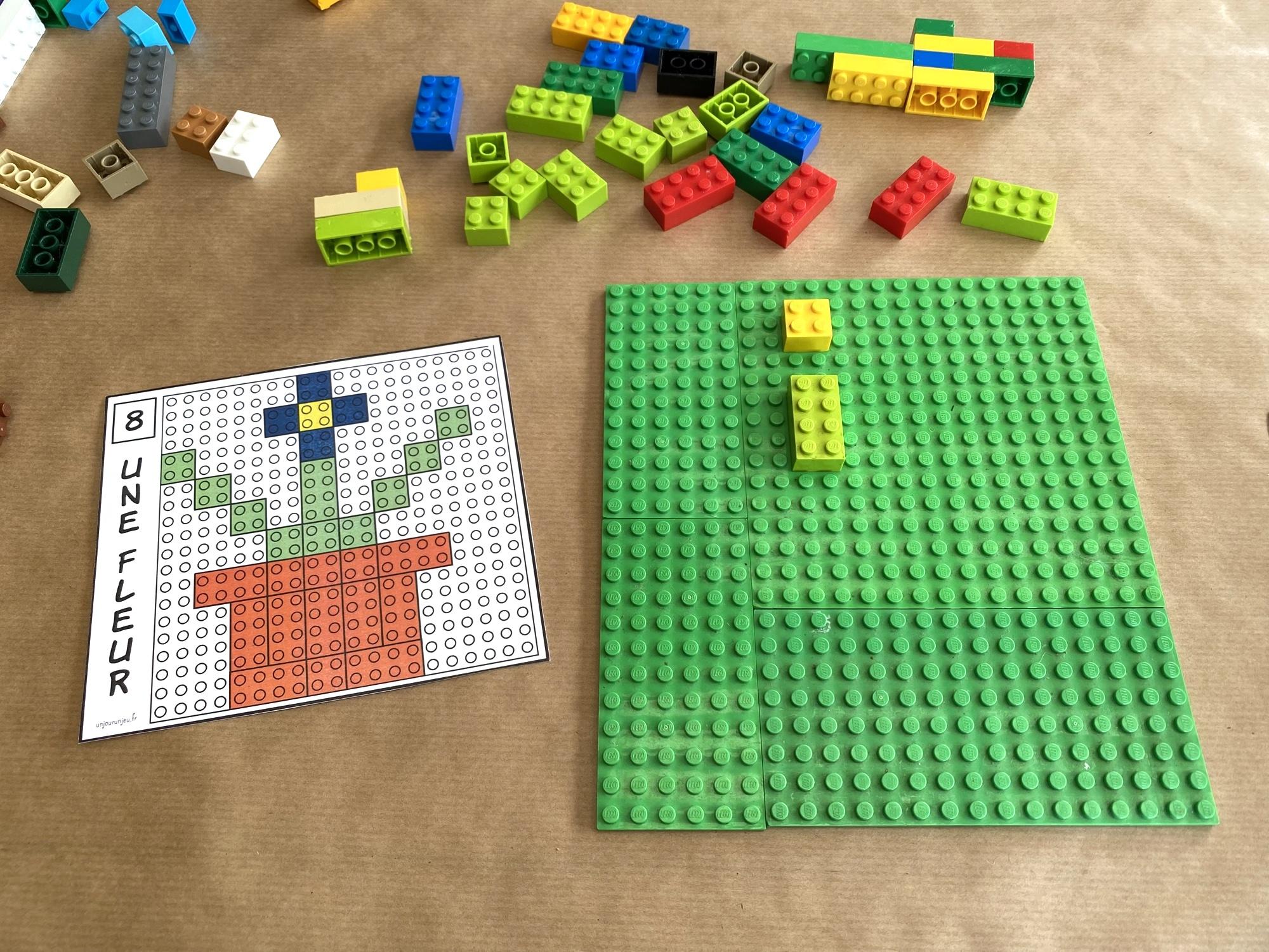 Modèles LEGO à reproduire - étape 1
