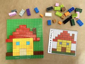 Modèle briques LEGO à reproduire