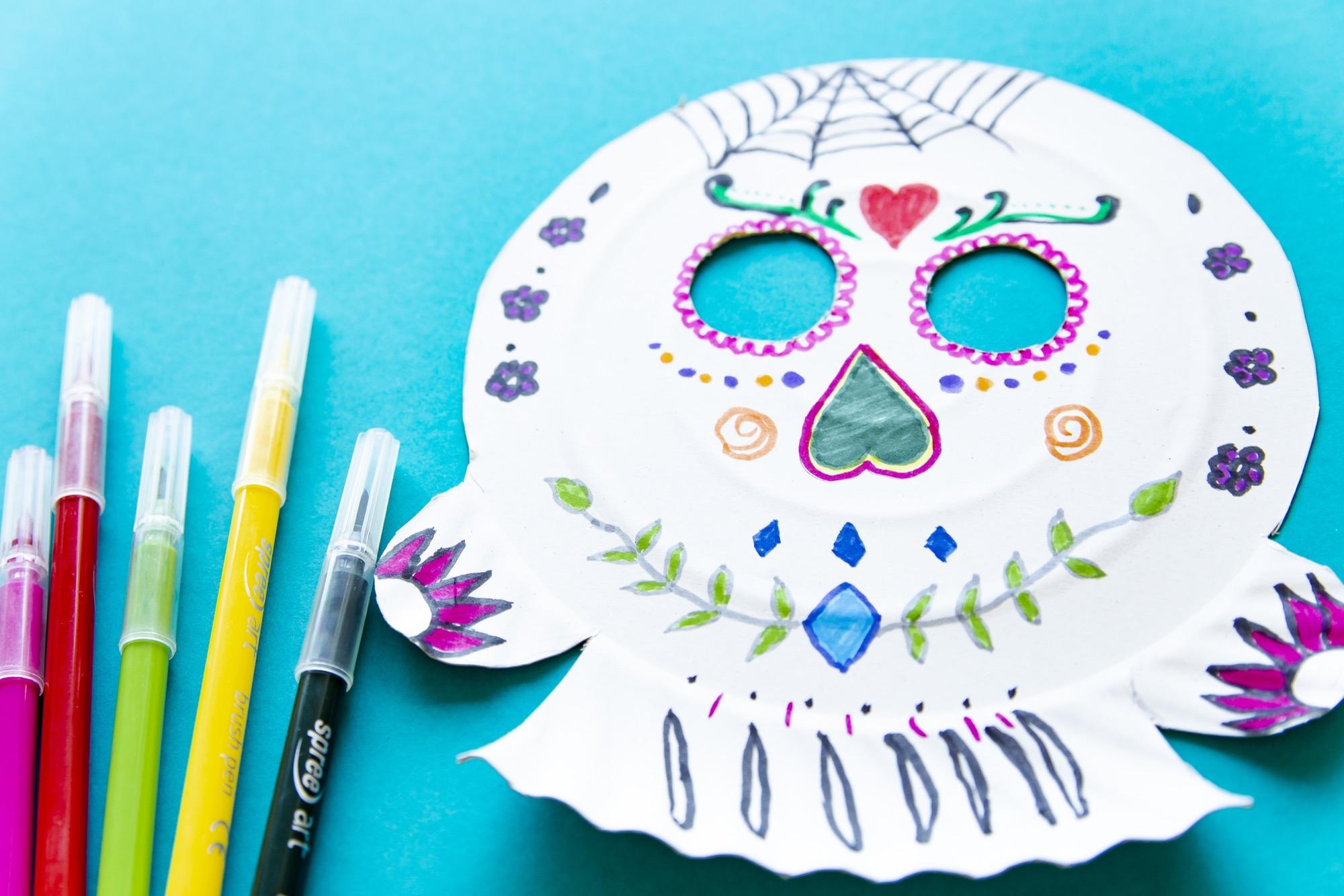 Bricolage Halloween : ma jolie tête de mort