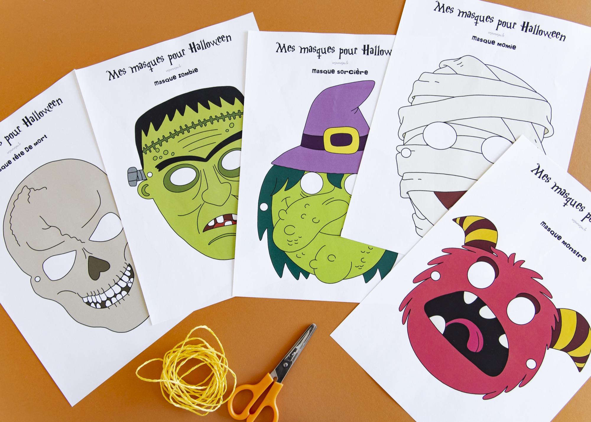 Masques Halloween - étape 1
