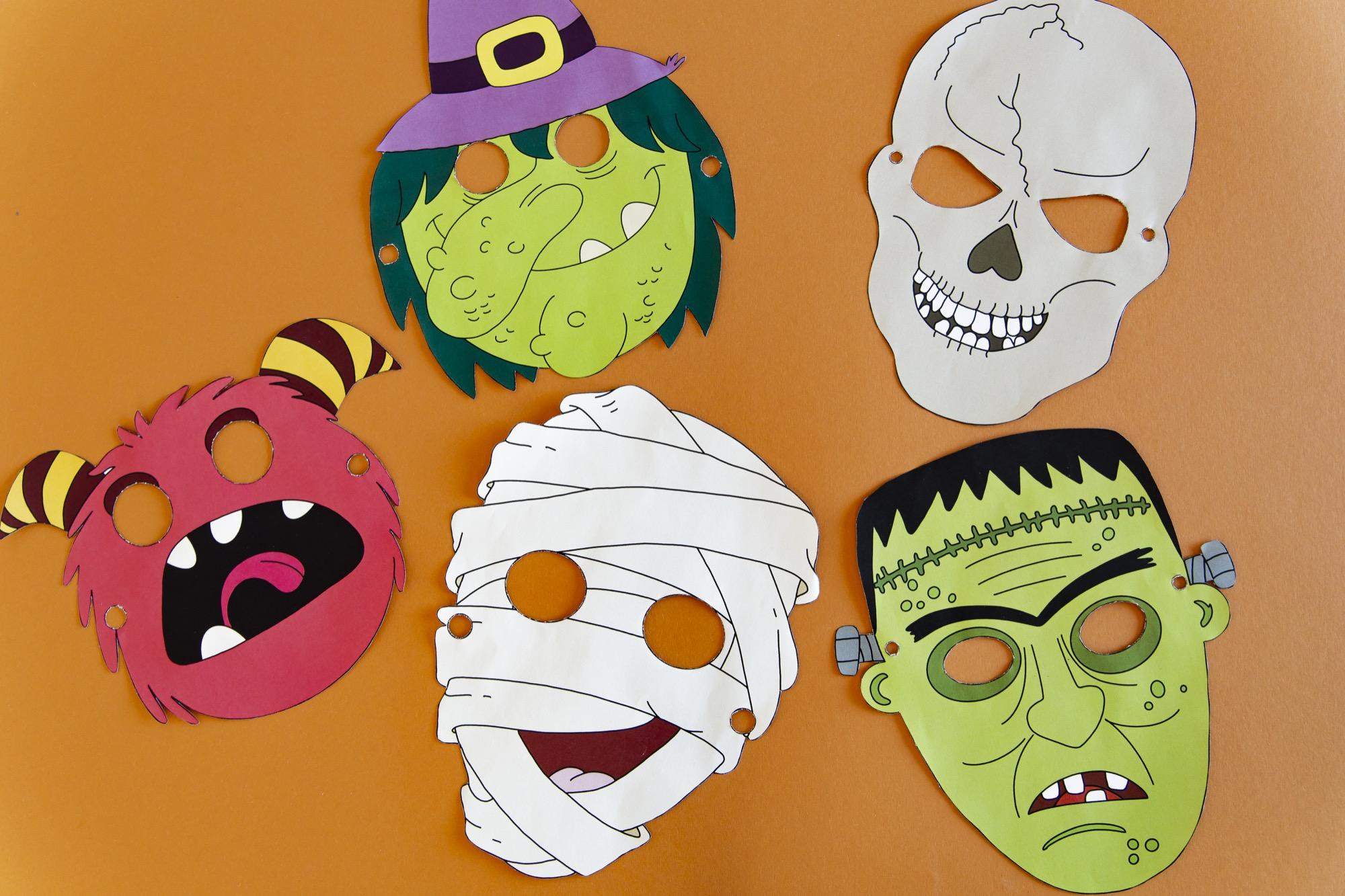Masques Halloween - étape 5