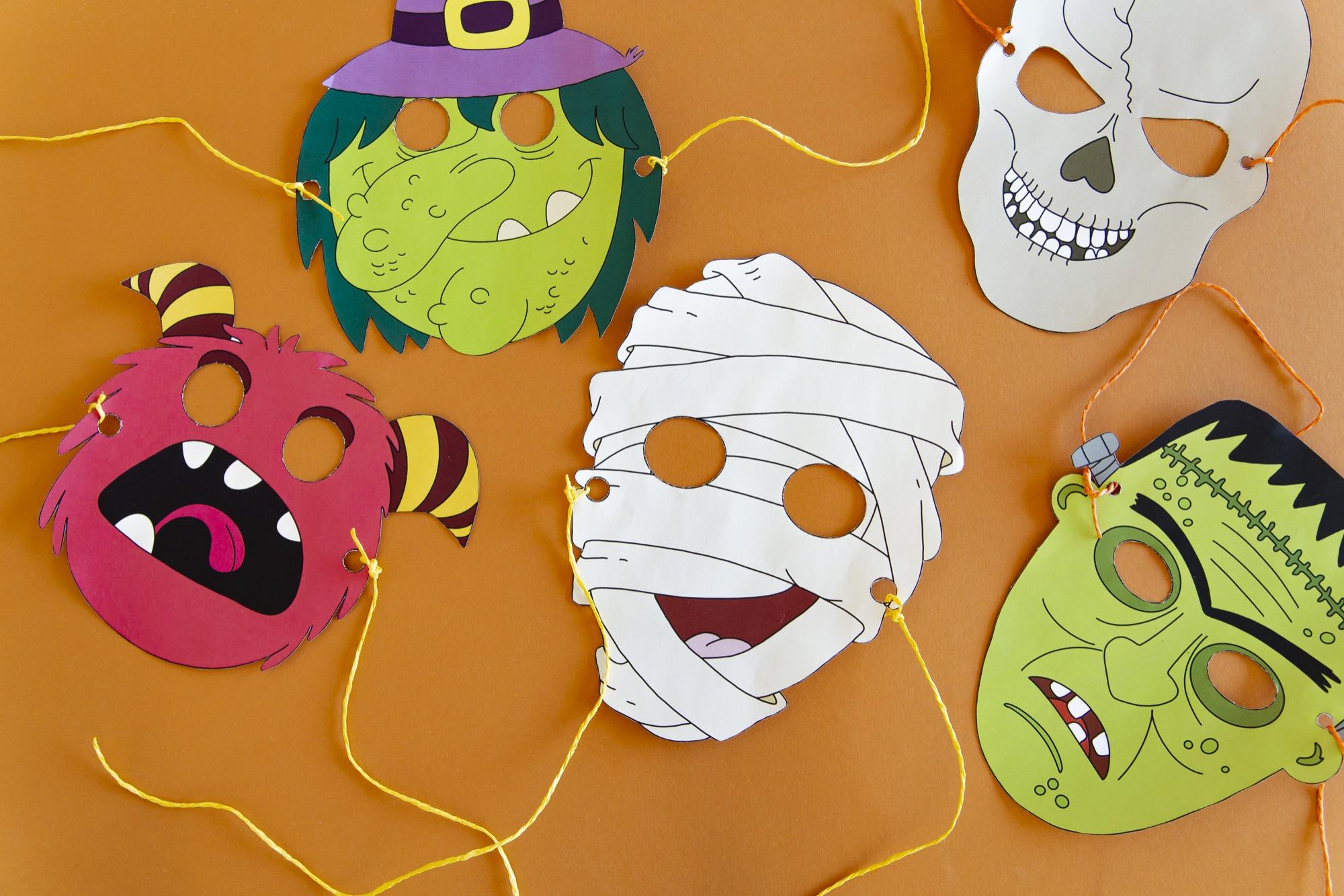 Masques Halloween - étape 6