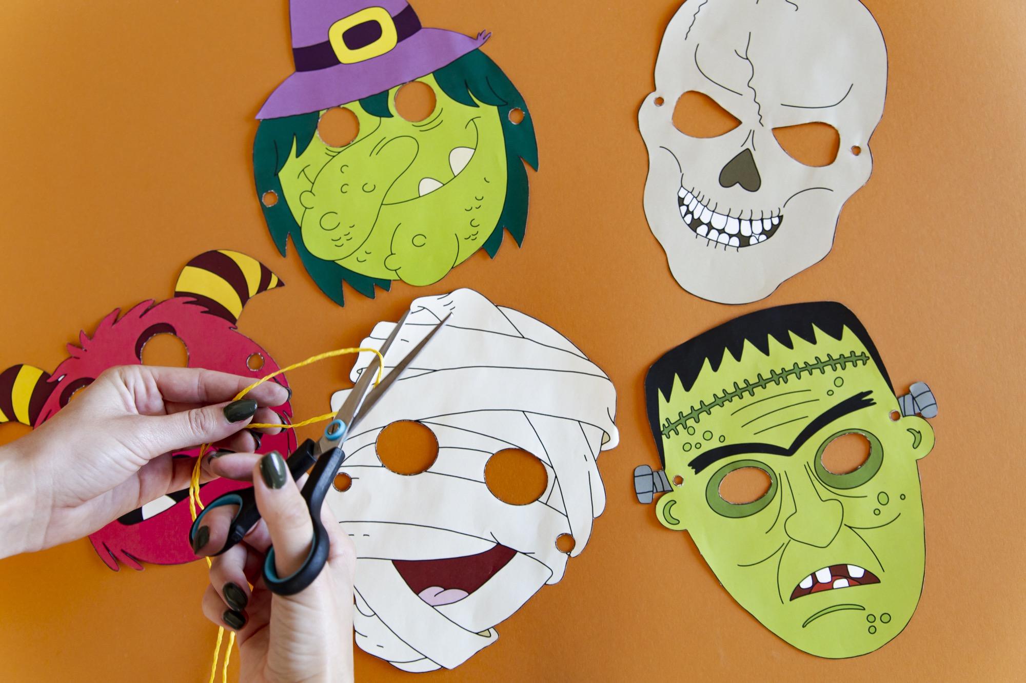Masques Halloween - étape 3