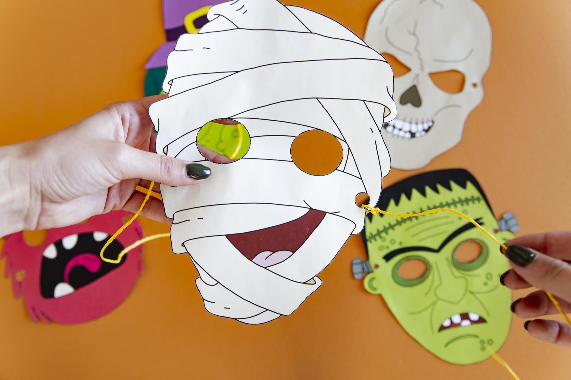 Masques Halloween - étape 4